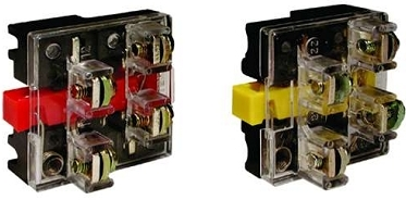 2 Teknic Contact Blocks, 30mm,  2 NO +  2 NC contacts