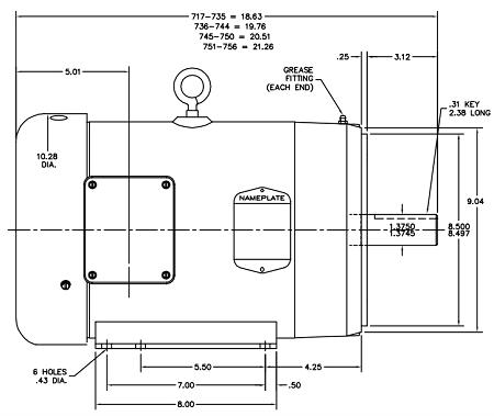 Baldor Motor Frame Dimensions impremedia net