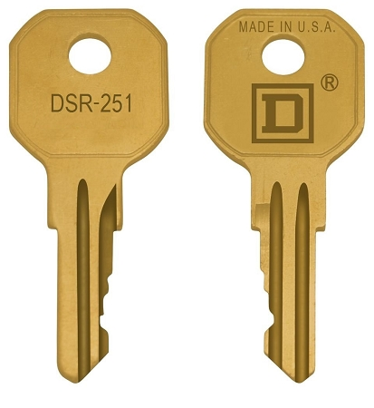 Square  D   DSR251    replacement keys