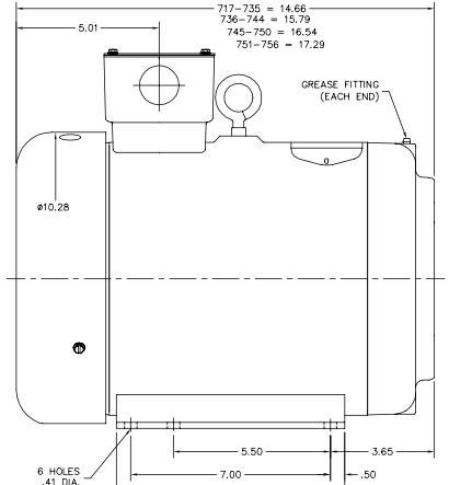 10 hp motor nema tyz frame for 56 frame motor shaft size