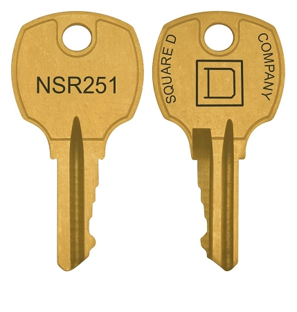 Square D  NSR251  replacement keys