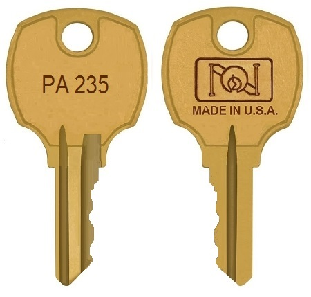 PA235  replacement keys