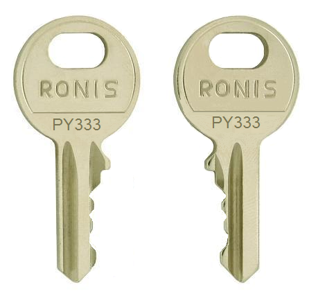 Pizzato  (Ronis)   PY333  replacement keys
