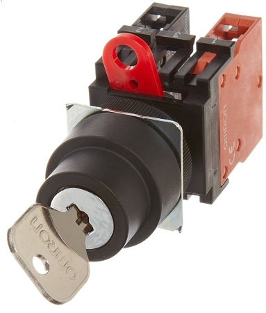 Omron A22TK Safety Key Selector Switch - Factory Controls
